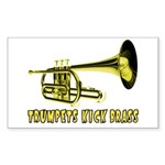 Trumpets Kick Brass Rectangle Sticker
