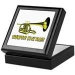 Trumpets Kick Brass Keepsake Box