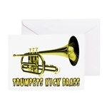 Trumpets Kick Brass Greeting Cards (Pk of 10)
