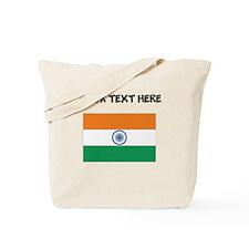 Custom India Flag Tote Bag