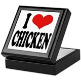 I Love Chicken Keepsake Box