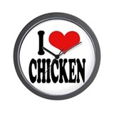 I Love Chicken Wall Clock