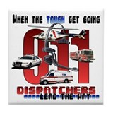Dispatchers lead the way Tile Coaster