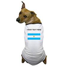 Custom Argentina Flag Dog T-Shirt