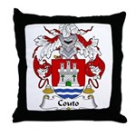 Couto Family Crest Throw Pillow