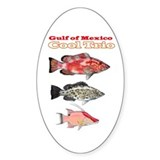 Gulf of Mexico Trio Oval Decal