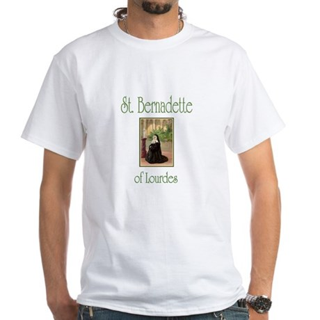 St. Bernadette of Lourdes White T-Shirt