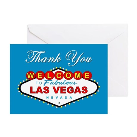 Las Vegas Thank You Cards (blue) (Pk of 10)
