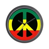 PEACE SIGN REGGAE Wall Clock