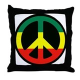 PEACE SIGN REGGAE Throw Pillow