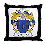 Brandao Family Crest Throw Pillow