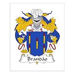 Brandao Family Crest Small Poster