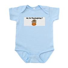 Cool My 1st turkey day Infant Bodysuit
