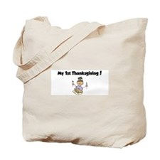 Funny My 1st turkey day Tote Bag