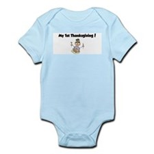 Cute My 1st turkey day Infant Bodysuit