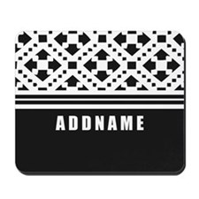 Black and White Pattern Personalized Mousepad