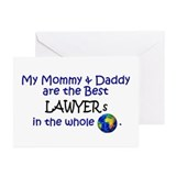Best Lawyers In The World Greeting Cards (Pk of 10