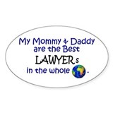 Best Lawyers In The World Oval Decal