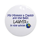 Best Lawyers In The World Ornament (Round)