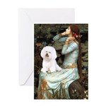 Ophelia & Bichon Greeting Card