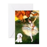 Ballet Dancer & Bichon Greeting Card