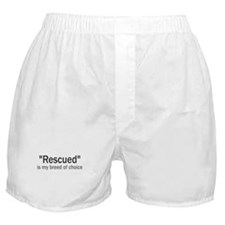 Rescued is My Breed Boxer Shorts