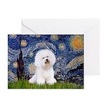 Starry Night Bichon Greeting Cards (Pk of 20)