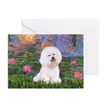 Lilies 4 / Bichon 1 Greeting Cards (Pk of 20)