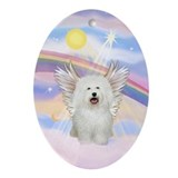 Bolognese Angel in Clouds Oval Ornament
