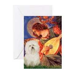 Mandolin Angel & Bolognese Greeting Cards (Pk of 2