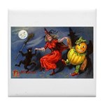 Halloween Witch Tile Coaster