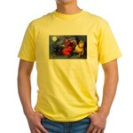 Halloween Witch (Front) Yellow T-Shirt