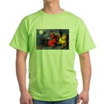 Halloween Witch (Front) Green T-Shirt