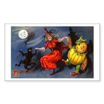 Halloween Witch Rectangle Sticker