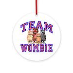 Team Wombie Ornament (Round)