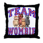 Team Wombie Throw Pillow