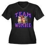 Team Wombie Women's Plus Size V-Neck Dark T-Shirt