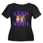 Team Wombie Women's Plus Size Scoop Neck Dark T-Sh
