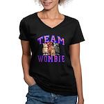Team Wombie Women's V-Neck Dark T-Shirt