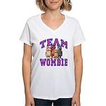 Team Wombie Women's V-Neck T-Shirt