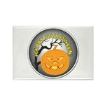 Happy Halloween Greetings Rectangle Magnet (10 pac