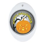 Happy Halloween Greetings Oval Ornament
