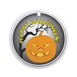 Happy Halloween Greetings Ornament (Round)