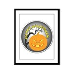 Happy Halloween Greetings Framed Panel Print