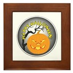 Happy Halloween Greetings Framed Tile