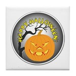 Happy Halloween Greetings Tile Coaster