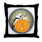 Happy Halloween Greetings Throw Pillow