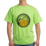 Happy Halloween Greetings (Front) Green T-Shirt
