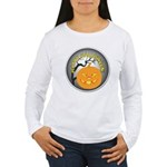 Happy Halloween Greetings (Front) Women's Long Sle