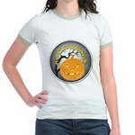 Happy Halloween Greetings Jr. Ringer T-Shirt